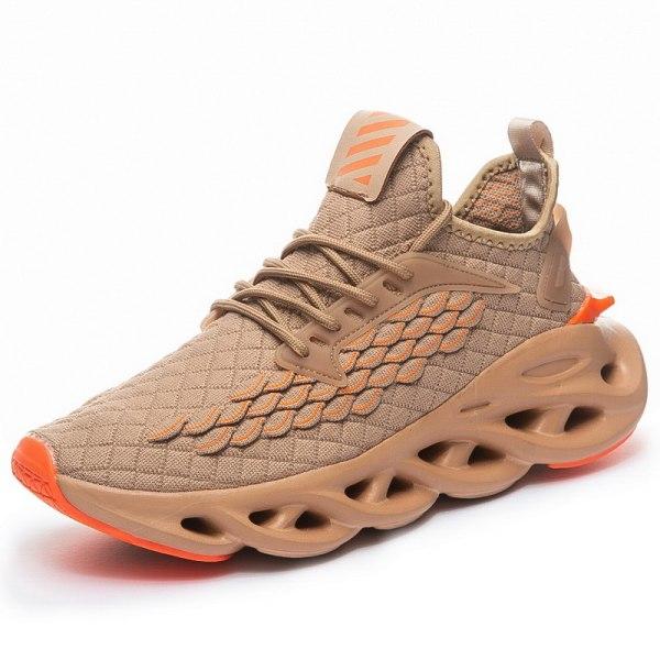 Men's Mesh Athletic Sneakers Sports Running Lace Up Casual Shoes Brown,46