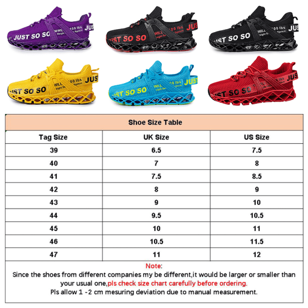 Men's Sneakers Walking Sports Running Trainers Breathable Shoes Yellow,43