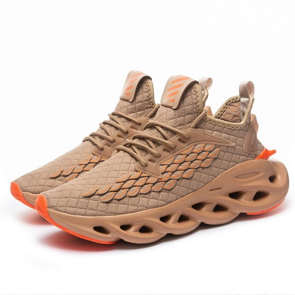Men's training shoes lace up casual shoes sports shoes Brown,41