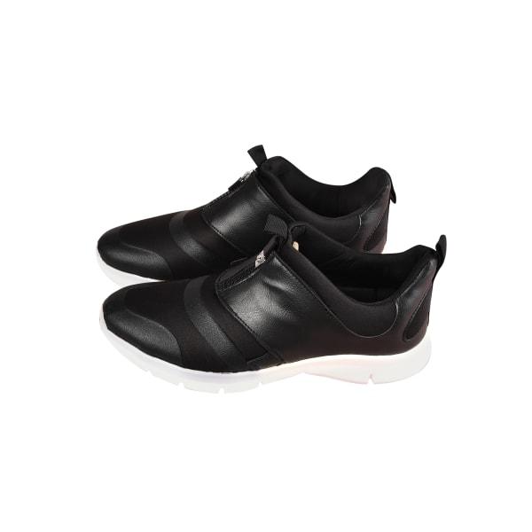 Men's Wedge Heel Casual Walking Shoes Round Toe Sneakers Slip On Black,43