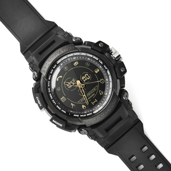Smart Watch Sport Bracelet IP68 Swimming Diving Message Remind Black