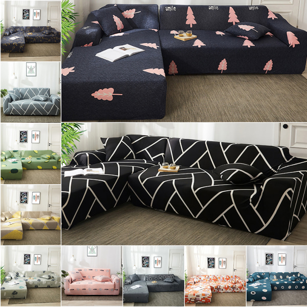 Sofa Cover Recliner Lounge Couch Slipcover Protector 1-4 Seater #09 Autumn Shadow,1 Seater