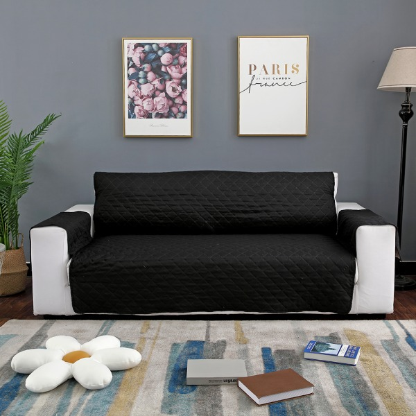 """Sofa Covers Couch Washable Furniture Protector Pet Waterproof Black,20""""x77"""""""