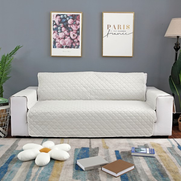 """Sofa Covers Couch Washable Furniture Protector Pet Waterproof White,45""""x77"""""""