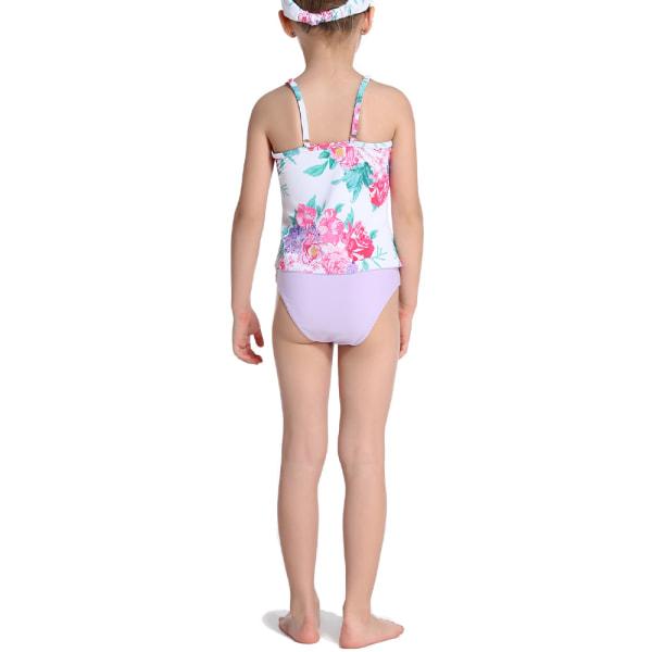 Sommer Divides Parents-Child Swimsuit Loop Beach Bathing Suit White,130cm