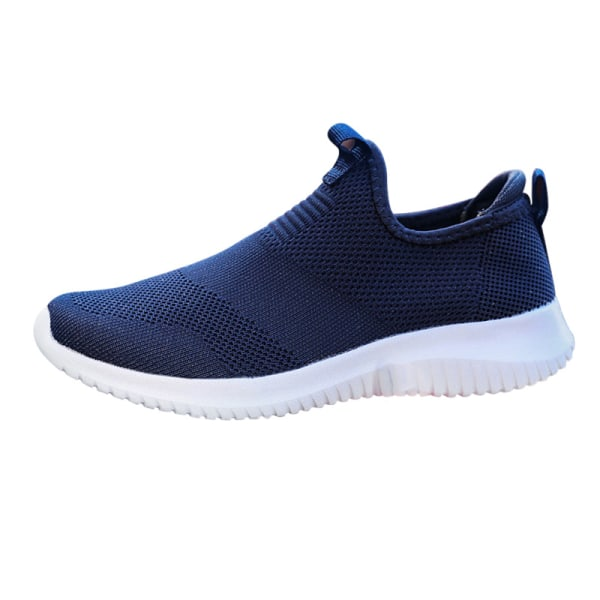 Unisex adult breathable wear resistant round toe sneakers Blue,36