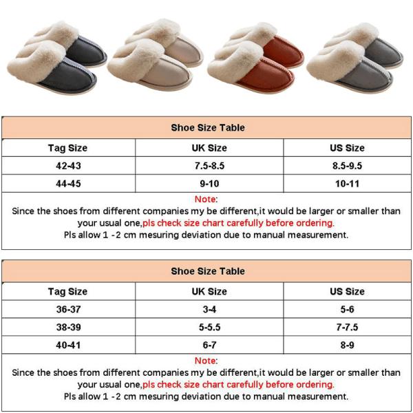 Unisex Suede Slippers Slides Mules Winter Warm Indoor Floor Shoe Beige,38-39