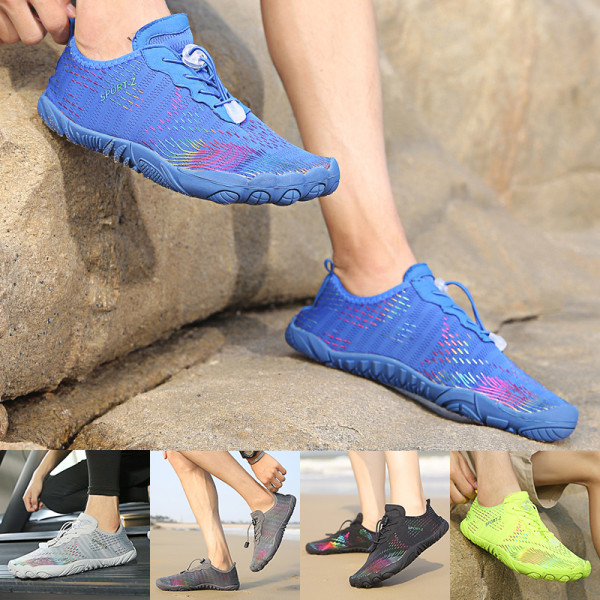 Unisex swimming beach shoes wading sneakers quick-drying shoes green,36