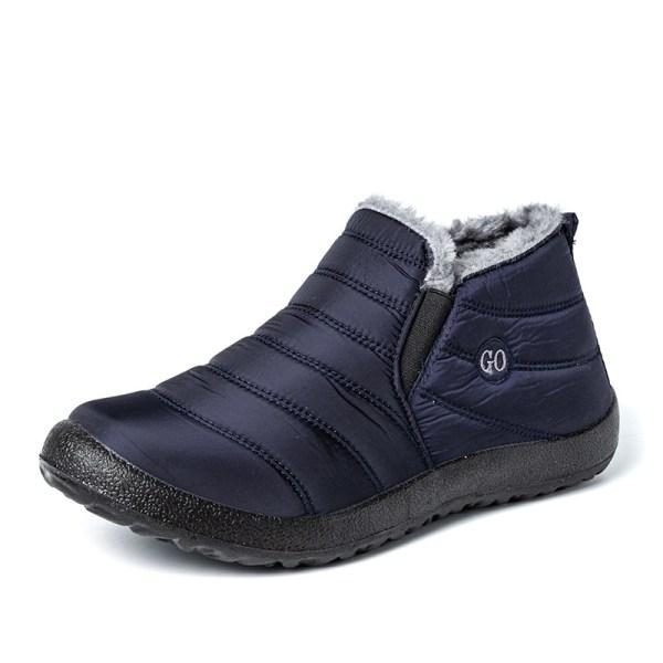 Unisex Winter Waterproof Ankle Boot Snow Shoes Warm Anti-Slip Blue,36