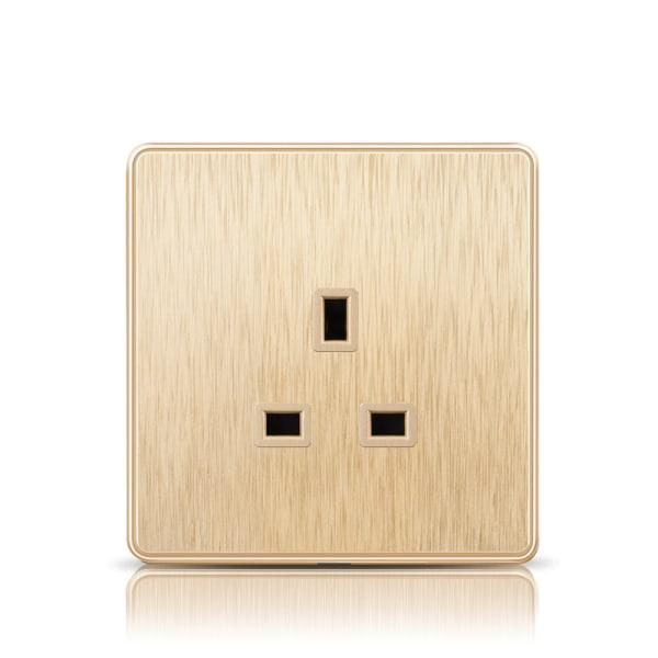 Wall Electric Socket Plug 2 Gang 13A 2 USB Port Outlet Plate 13A Socket