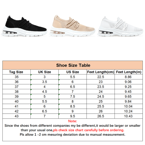 Women Air Cushion Outdoor Sneaker Athletic Running Lace Up Shoes White,35