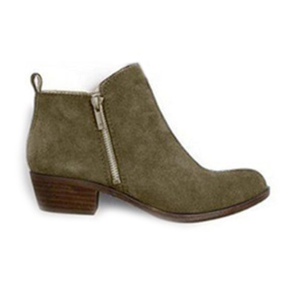 Women Ankle Boot Thick High-Heeled Boot Casual Shoes Spring Fall Green,43