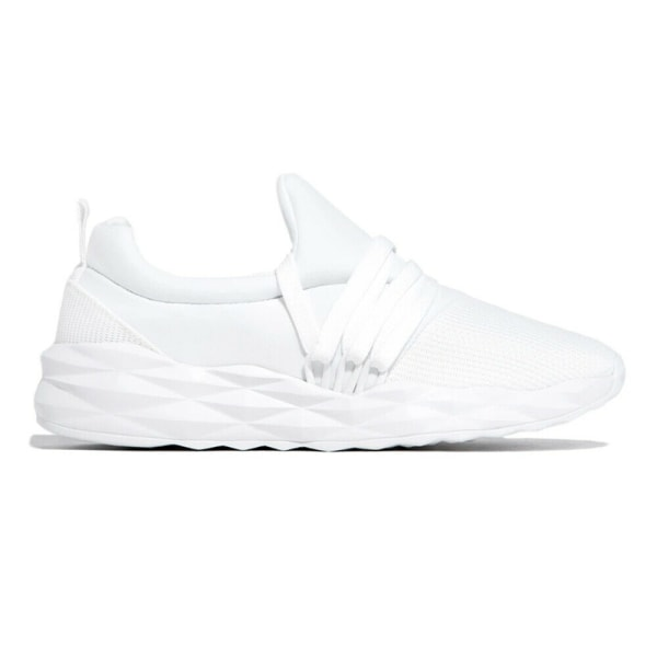 Women Breathable Lace Up Sneakers Walking Sports Running Shoes White,43