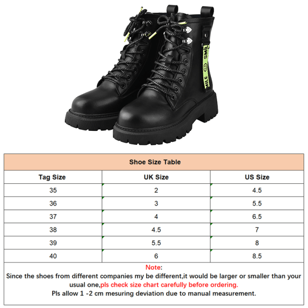 Women Fashion Ankle Boots Round Toe Booties Lace Up Casual Shoes Black,39