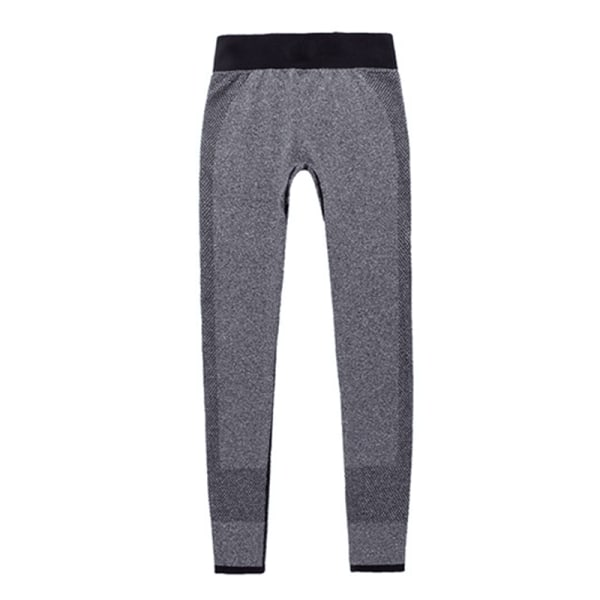 Women high waist quick drying seamless tight Yoga Pants Gray,XL