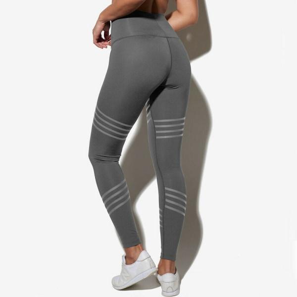 Women High Waist Yoga Pants Leggings Pockets Push Up Sports Stretch Fitness Mesh