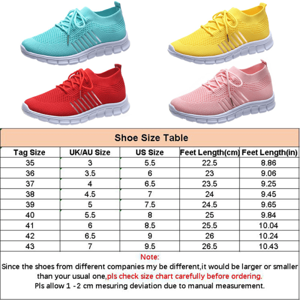 Women Mesh Sneakers Athletic Lightweight Breathable Casual Shoes Red,38