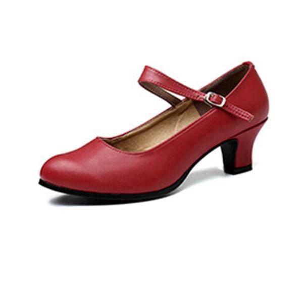 Kvinnors mjuka sulasandaler i högfärg med andningsfärg Wine red Single belt 3.5cm,38