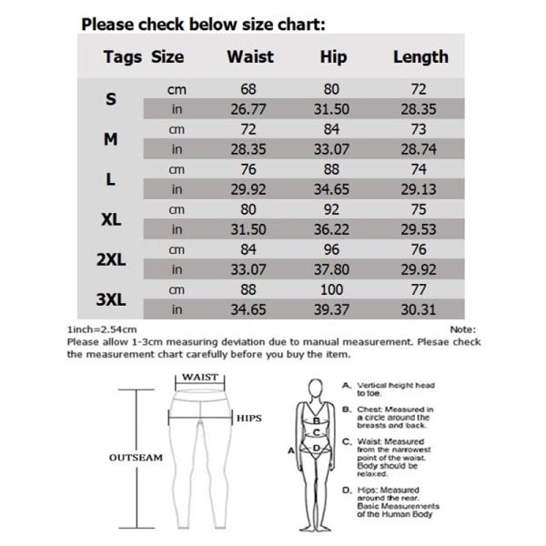 Women's Capri Yoga Pants High Waist Cropped Pants Pocket Fitness black,S