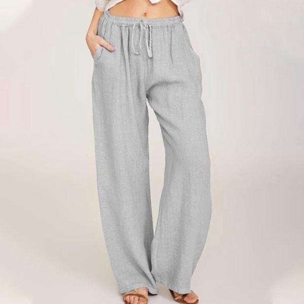 Women's Casual Sweatpants Yoga Dance Pants Harem Pants Pockets gray,3XL