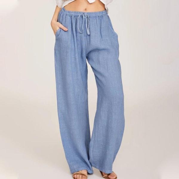 Women's Casual Sweatpants Yoga Dance Pants Harem Pants Pockets Light blue,4XL