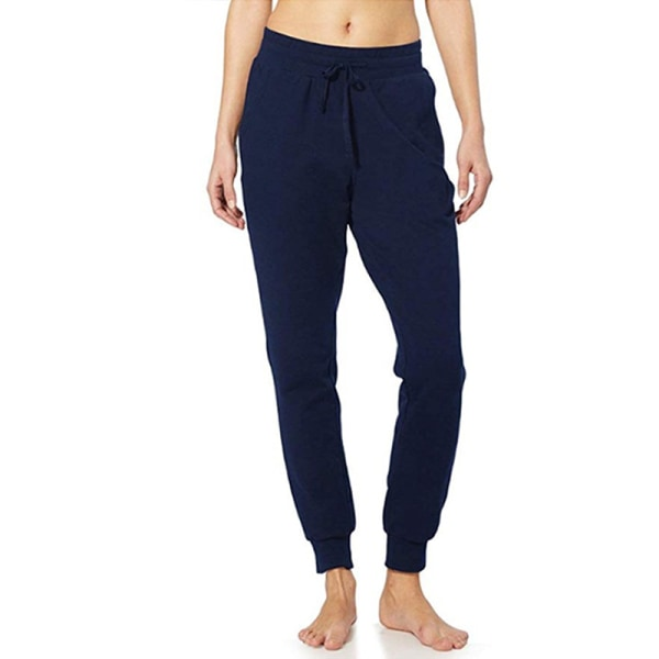 Women'S Casual Yoga Sports Jogging Pants Elastic Waist Pants Navy Blue,3XL
