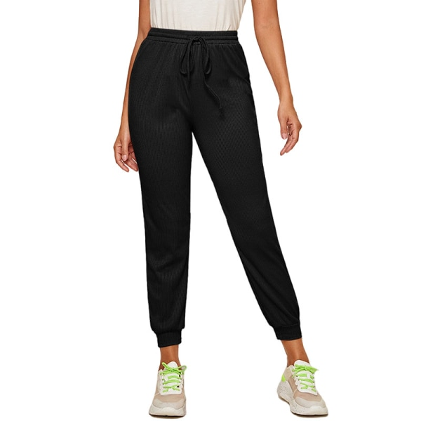 Women'S Casual Yoga Sweatpants Joggers Elastic Waist Loose Black,XL