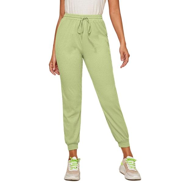 Women'S Casual Yoga Sweatpants Joggers Elastic Waist Loose Fruit Green,XL