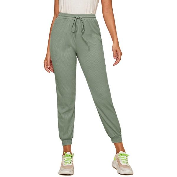 Women'S Casual Yoga Sweatpants Joggers Elastic Waist Loose Green,M