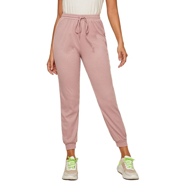 Women'S Casual Yoga Sweatpants Joggers Elastic Waist Loose Pink,L