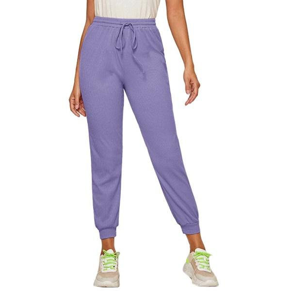Women'S Casual Yoga Sweatpants Joggers Elastic Waist Loose Violet,S