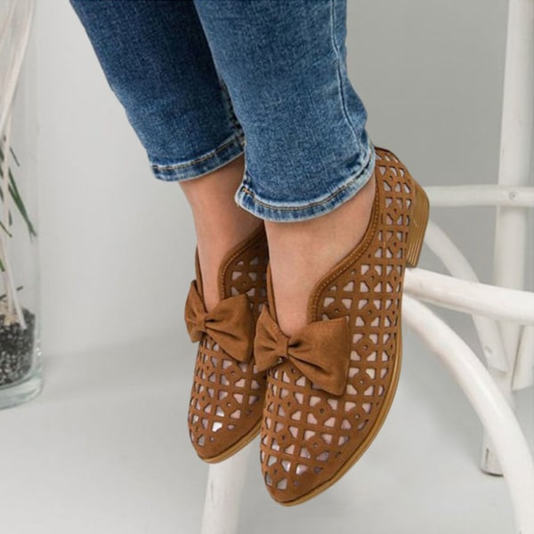 Women's fashion hollow mesh sandals for summer comfort Brown,42