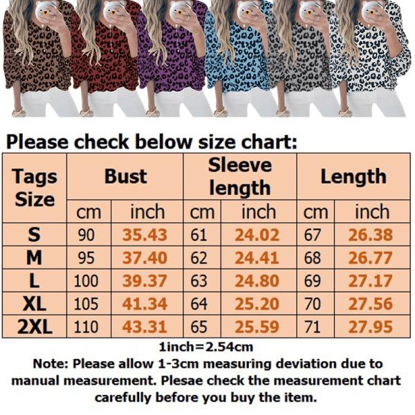 Women's Fashion Lantern Sleeve Leopard Print V-Neck Casual Top White,XXL