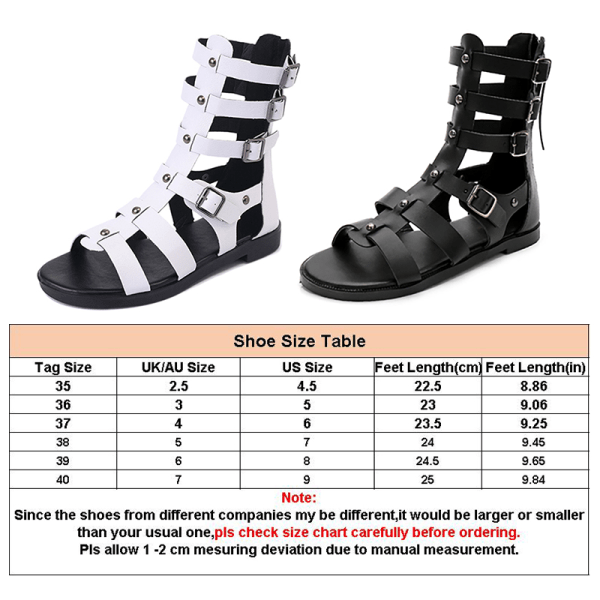 Women's Fashion Summer High Top Shoes Casual Sandals Solid Color Black,36