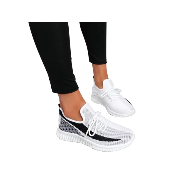 Women's Gym Running Shoes Breathable Athletic Casual Sneakers White,39