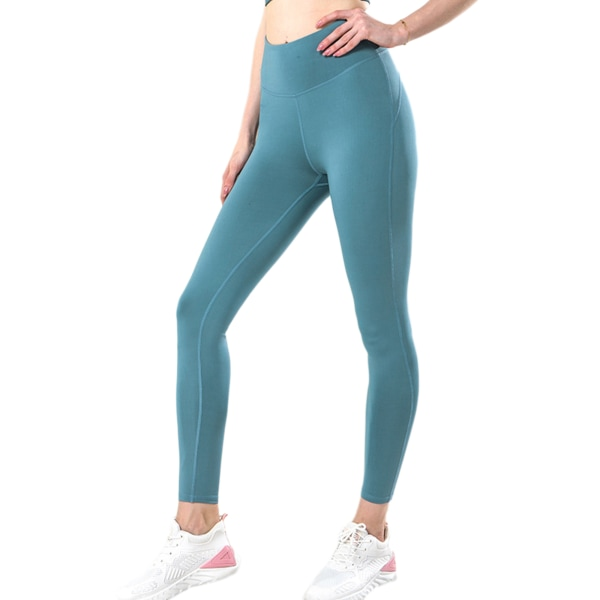 Women's High Waist Fitness Seamless Yoga Pants Sweatpants Blue,M