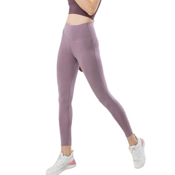 Women's High Waist Fitness Seamless Yoga Pants Sweatpants Purple,XL