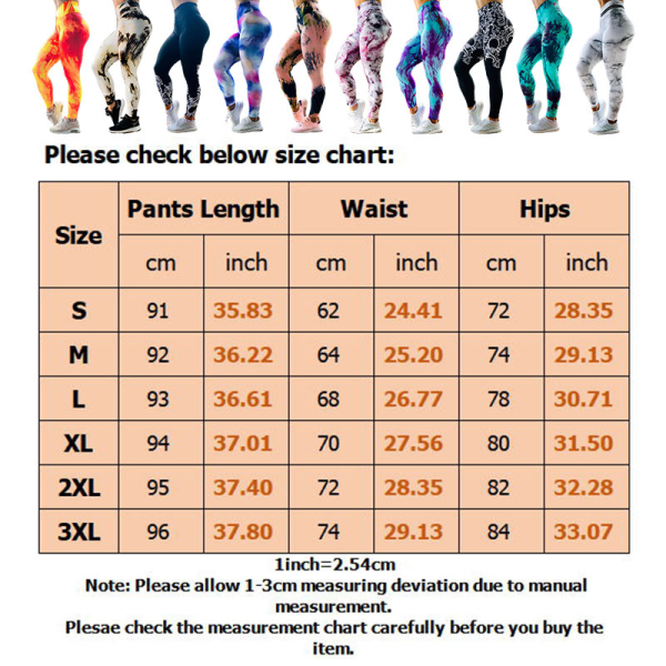 Kvinnors hög midja yoga leggings sportbyxor träningspass Black And White,XL
