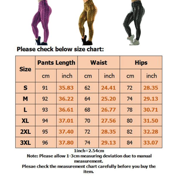 Kvinnors hög midja yoga leggings sportbyxor höft push up Purple,2XL