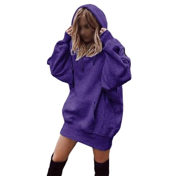 Women's Loose Sweatshirt Ladies Top Hoodie T-shirt purple,L