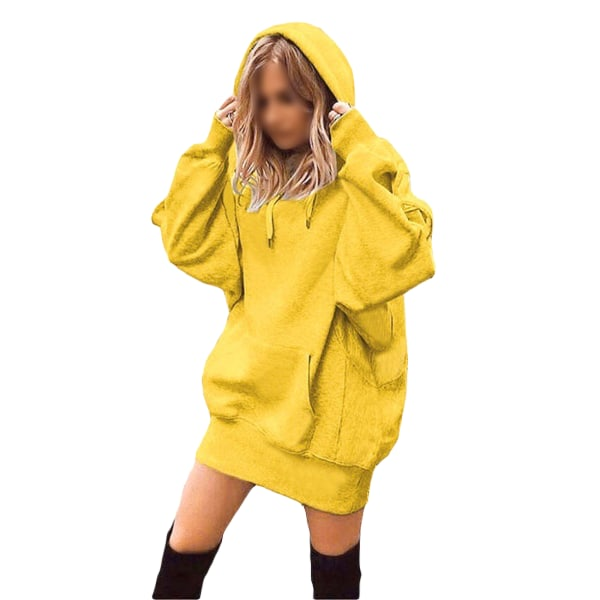 Women's Loose Sweatshirt Ladies Top Hoodie T-shirt yellow,XL