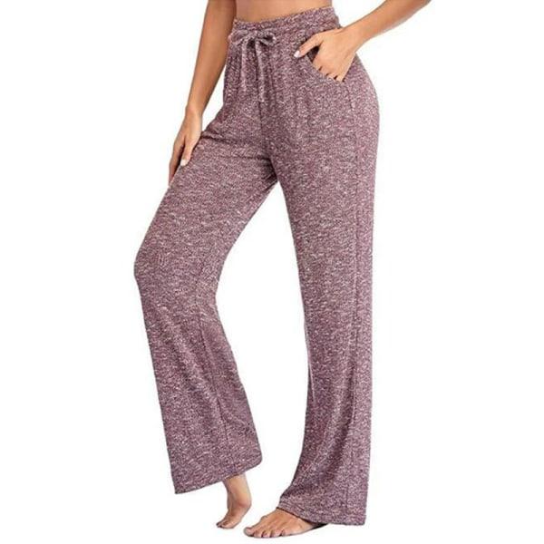 Women's loose Yoga Dance Pants jogging pants sports pants Bean paste,3XL