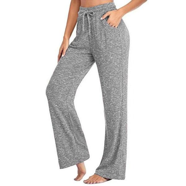 Women's loose Yoga Dance Pants jogging pants sports pants Gray,XXL