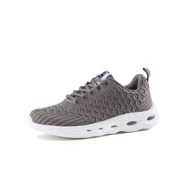 Women's mesh running shoes socks breathable sports casual shoes Gray,36