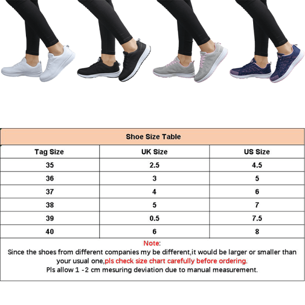 Women's Mesh Running Sneakers Breathable Casual Athletic Shoes White,36
