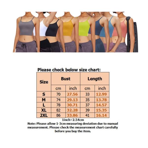 Women's Seamless Yoga Sports Bra Workout Camisole black,XL
