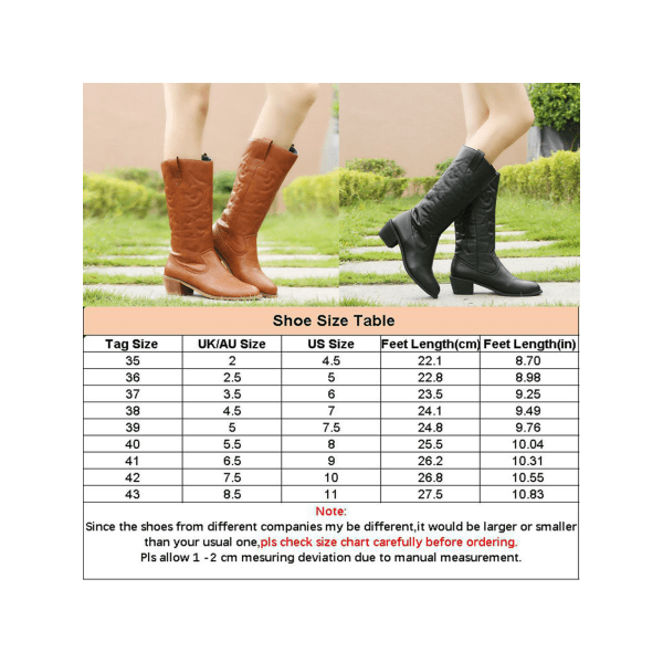 Women's Snow Mid Calf Boots Thick Heel Casual Shoes Lightweight Khaki,38