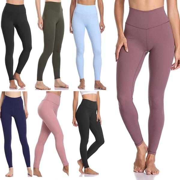 Women's sports high waist seamless yoga pants casual leggings Purple,XL