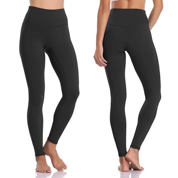 Women's sports high waist seamless yoga pants casual leggings Black,M
