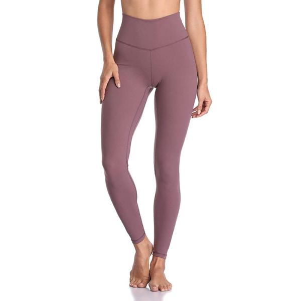 Women's sports high waist seamless yoga pants casual leggings dark pink,XL